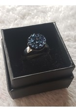 Angel Vaughan Blue Druzy Silver Ring