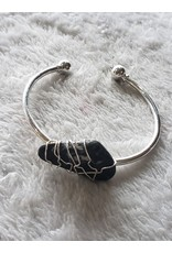 Angel Vaughan Wire Wrap Zebra Jasper Bracelet