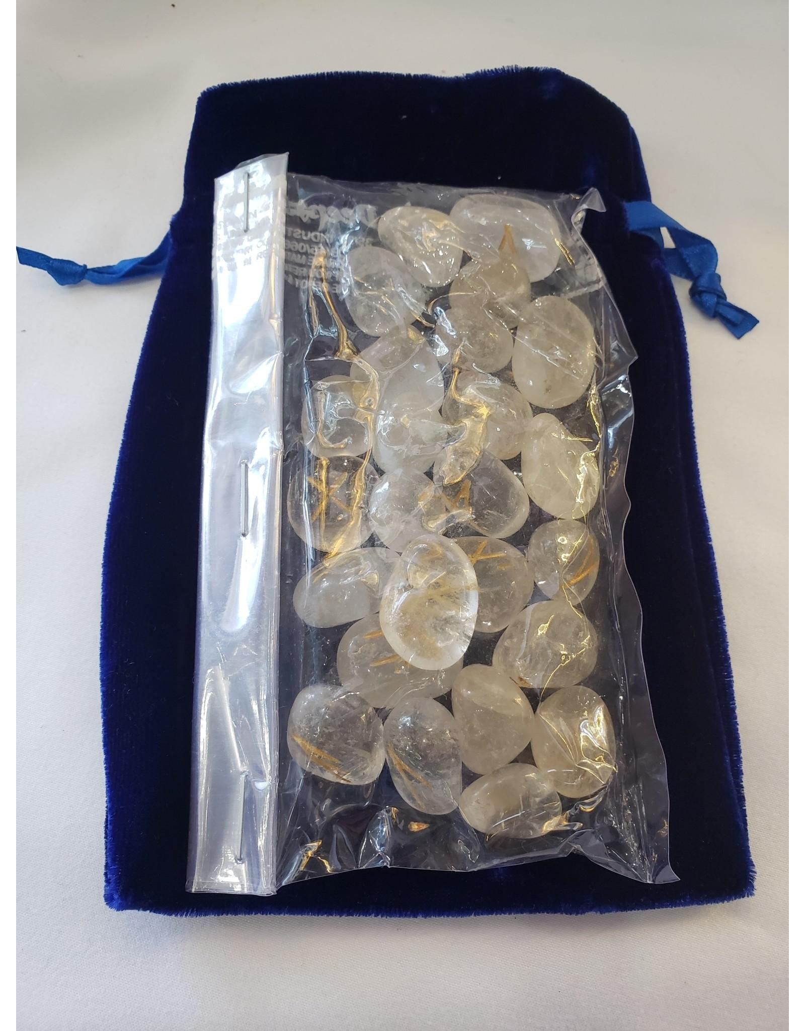 Gemstone Rune Set   Clear Quartz