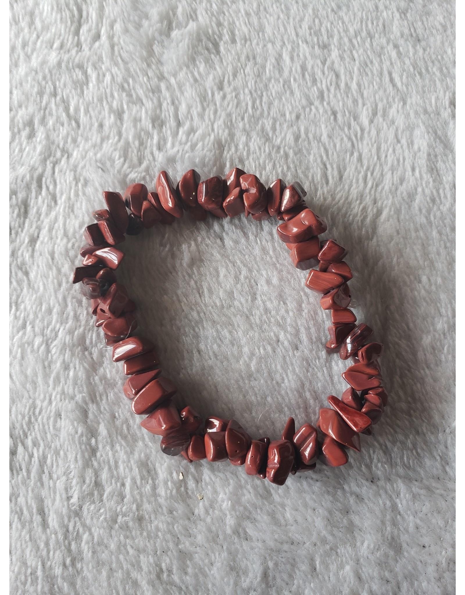 Red Carnelian Chip Bracelet