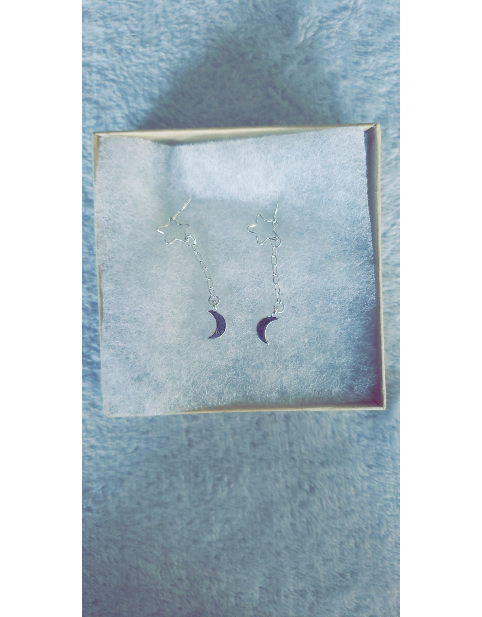 Dani Awesome Sterling Star and Moon Earrings