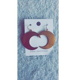 Dani Awesome Brass Crescent Moon Earrings