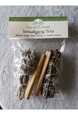 Full Moons Farms Smudging Trio w/ Yerba Santa