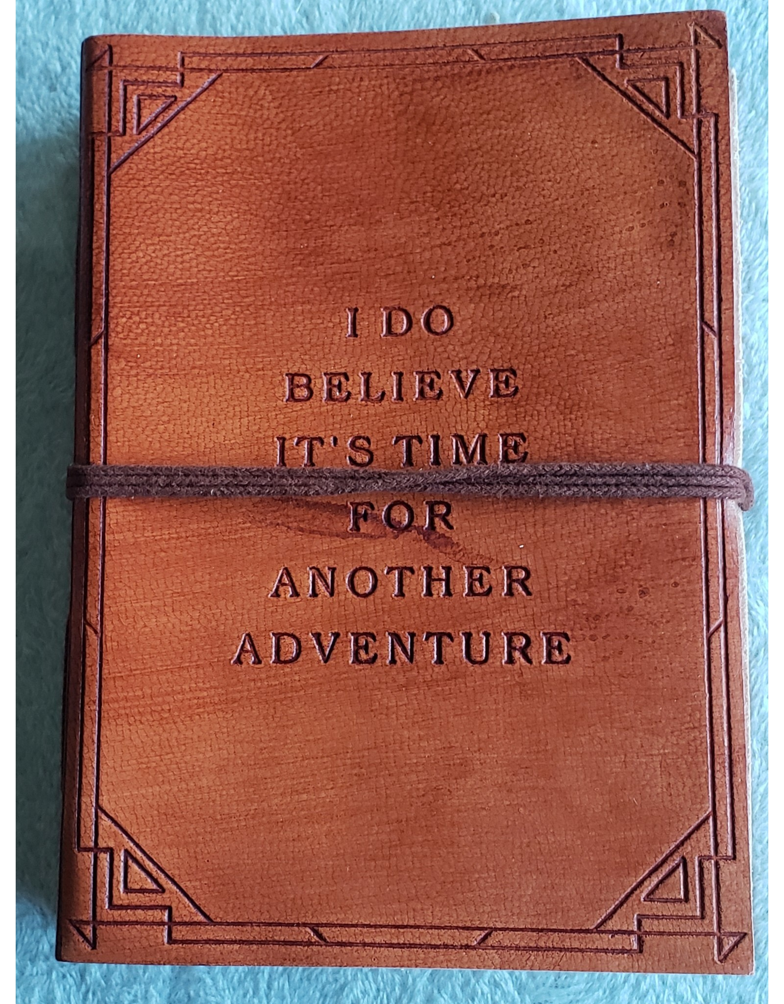 Soothi Another Adventure - Handmade Journal - Red/Brown