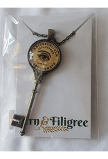 Fern & Filigree Ouija Board Seeing Eye Key Necklace