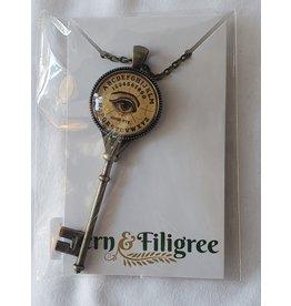 Fern & Filigree Ouija Board Seeing Eye Key Necklace