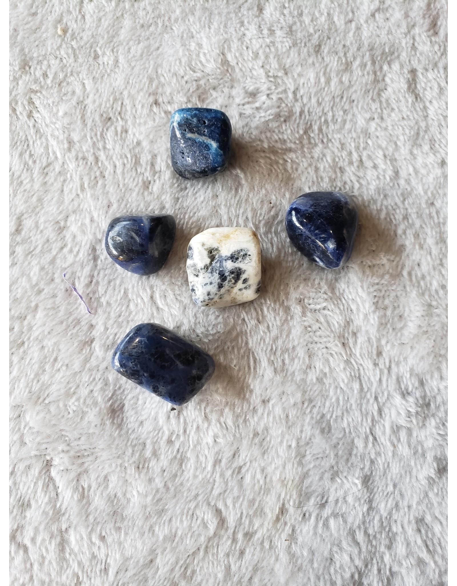 Medium Sodalite, Tumbled