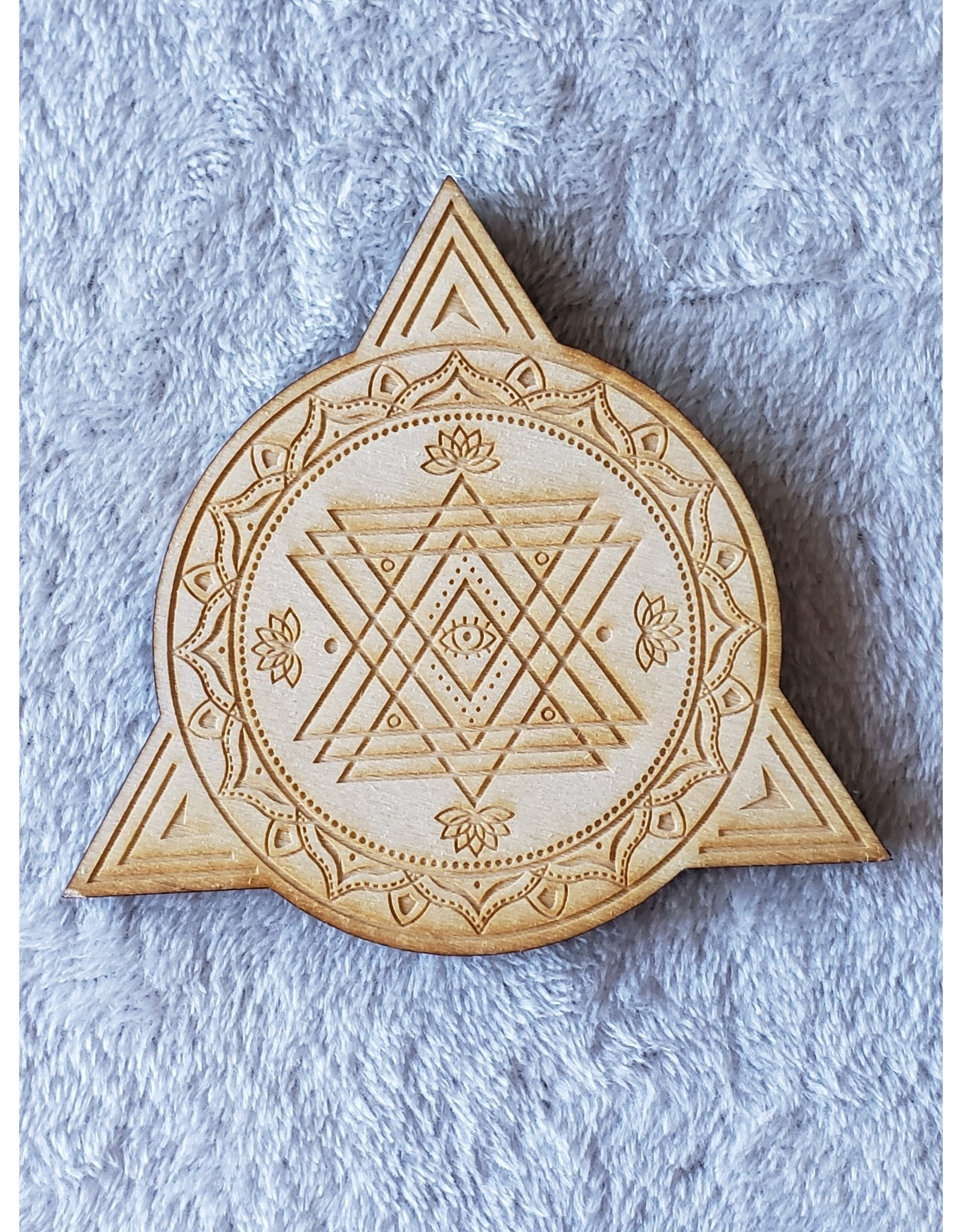 Zen and Meow Triangle Circle Crystal Grid - 4""