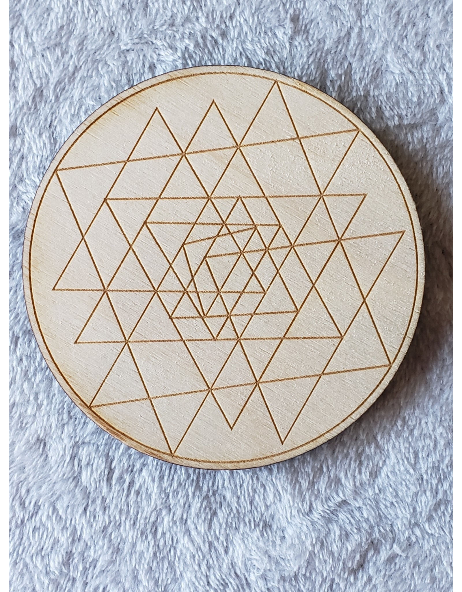 """Zen and Meow Sri Yantra Crystal Grid - 4"""""""