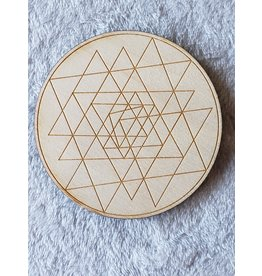 Zen and Meow Sri Yantra Crystal Grid - 4""