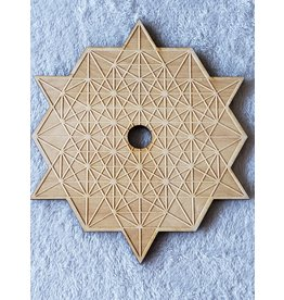 Zen and Meow Tetrahedron Sphere Holder Crystal Grid - 8""