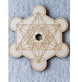 Zen and Meow Metatron's Cube 2 Sphere Holder Crystal Grid - 8""