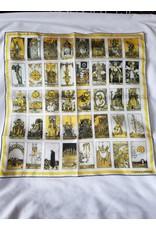 Curious Prints 100% Silk Vintage Tarot Card Bandana - 16x16