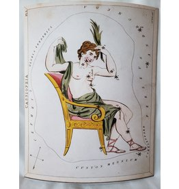 Curious Prints Vintage Constellation Cassiopeia Astrology Print - 8x10