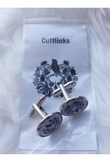 Unique Art Pendants Day of The Dead Silver Cufflinks