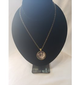 Unique Art Pendants Victorian Angel Girl Brass Necklace