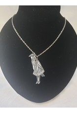 Unique Art Pendants Small Crow Girl Necklace
