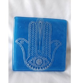 Kiku Handmade Hamsa - Single Coaster