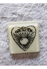 Kiku Handmade Ouija Planchette Fused Glass Magnet