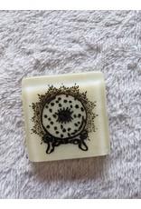 Kiku Handmade Crystal Ball Fused Glass Magnet