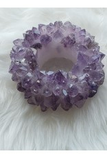 The Rock Warehouse Candleholder - Amethyst Points