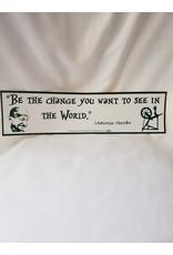 Azure Green Bumper Sticker | Be the Change