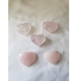 Vicjon Enterprises Inc. Rose Quartz Hearts