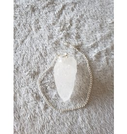 JK Stone USA Rough Clear Quartz Pendulum