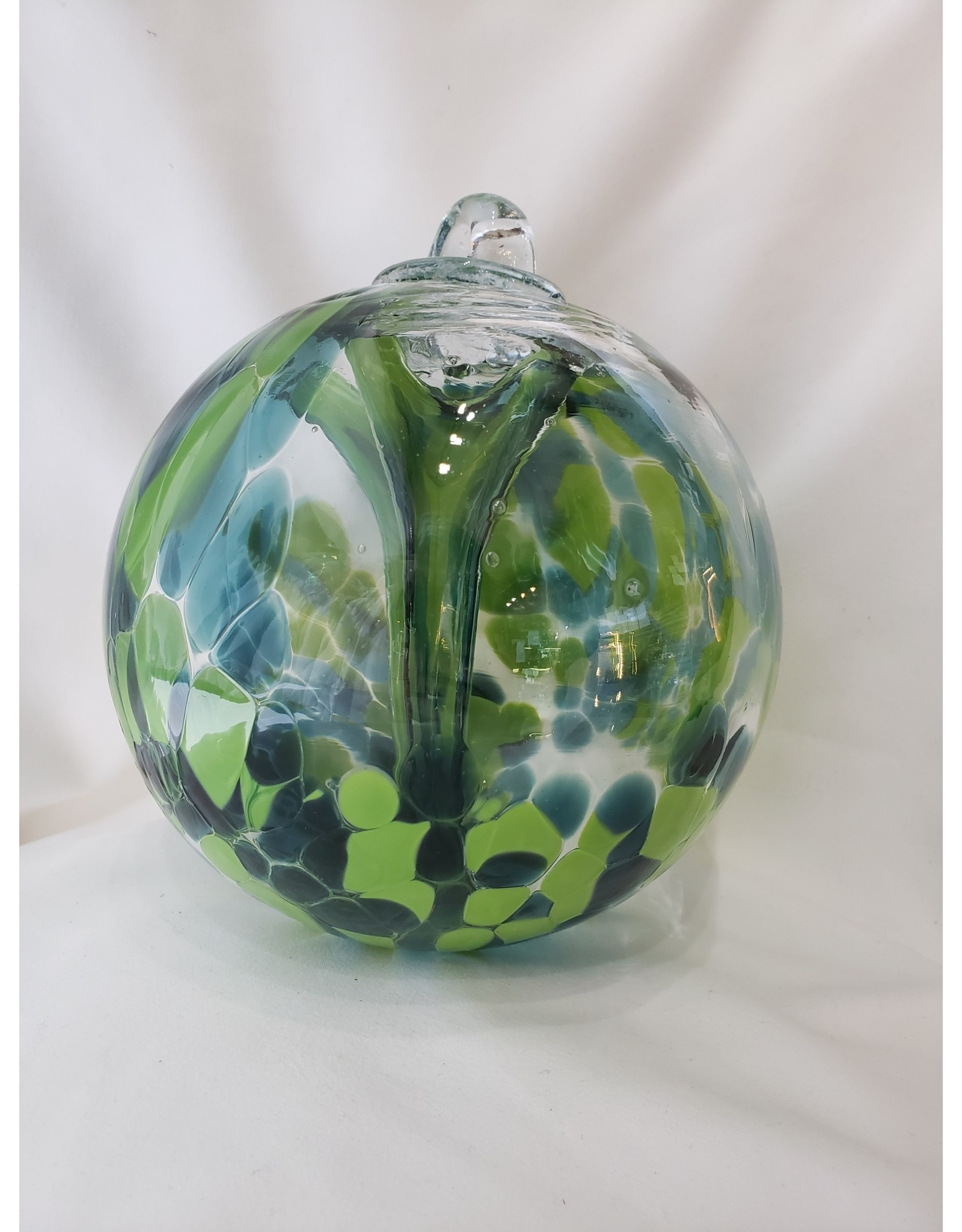 Iron Art Glass Witch Ball - Spruce