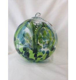 Iron Art Glass Witch Ball - Spruce
