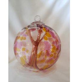 Iron Art Glass Witch Ball - Marigold