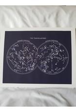 "Capricorn Press Capricorn Press - The Constellations - Navy Blue - 11""x14"""
