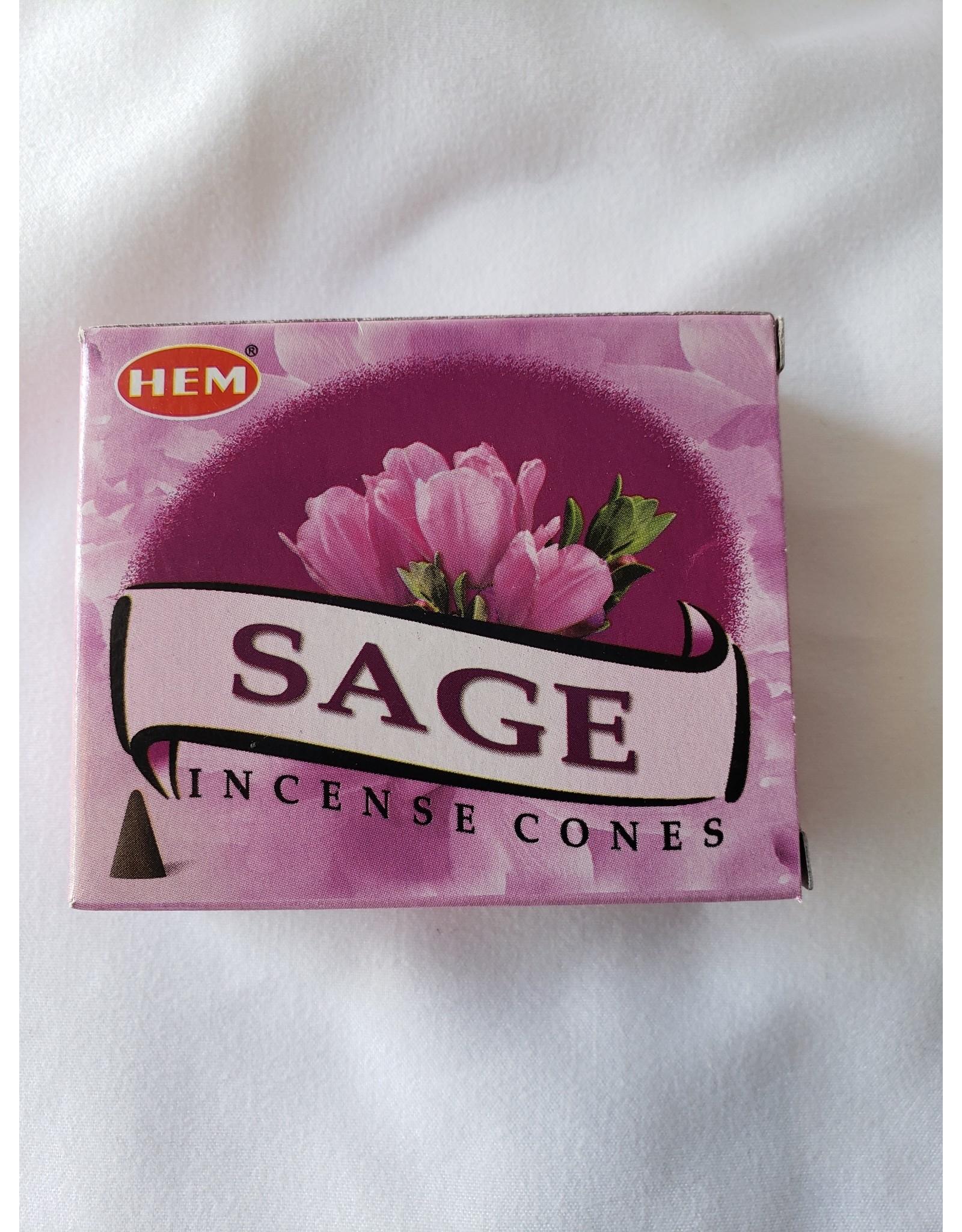 Hem Sage Incense Cones