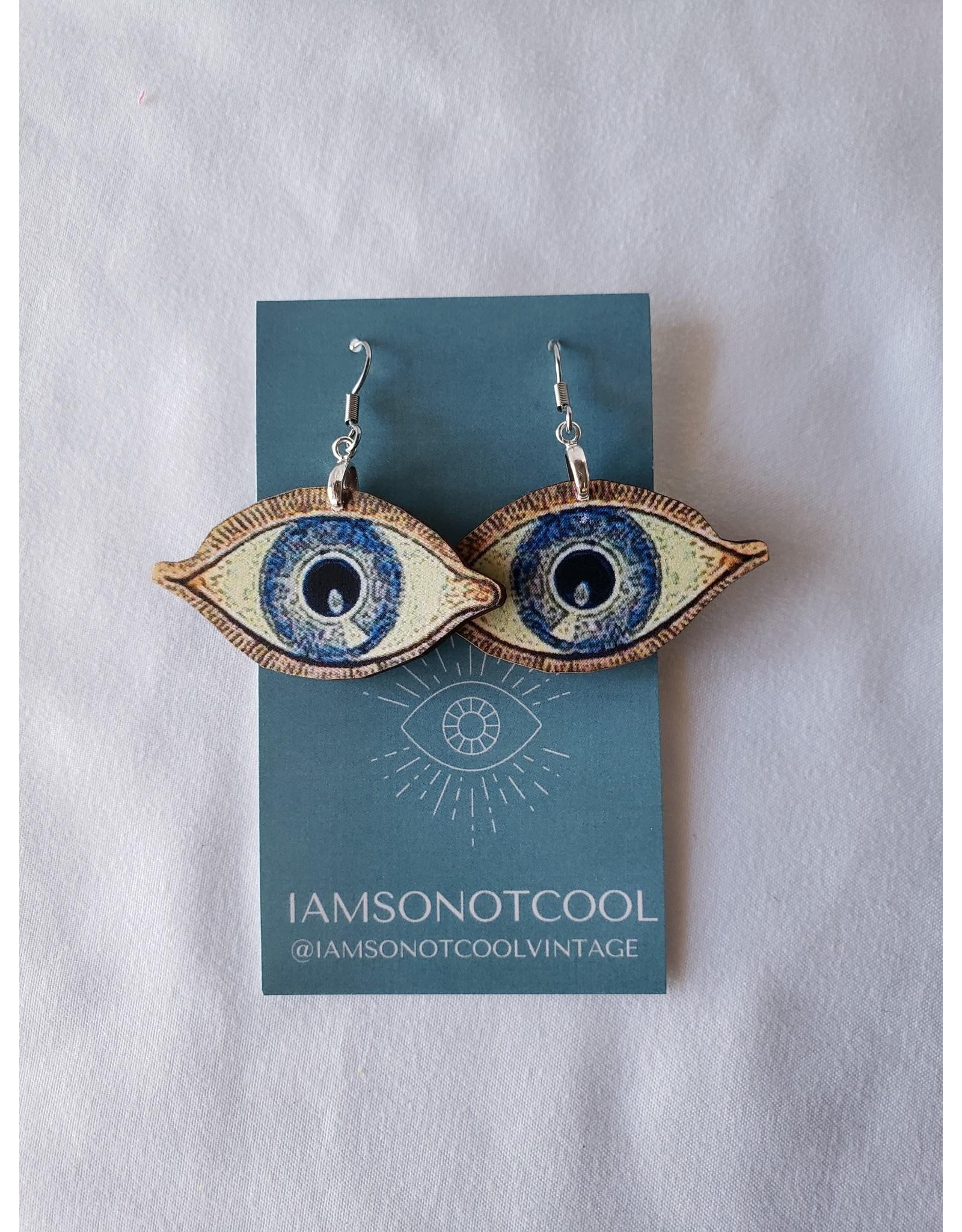 Iamsonotcool Evil Eyeball Earrings