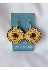 Iamsonotcool Round Spirit Board Earrings