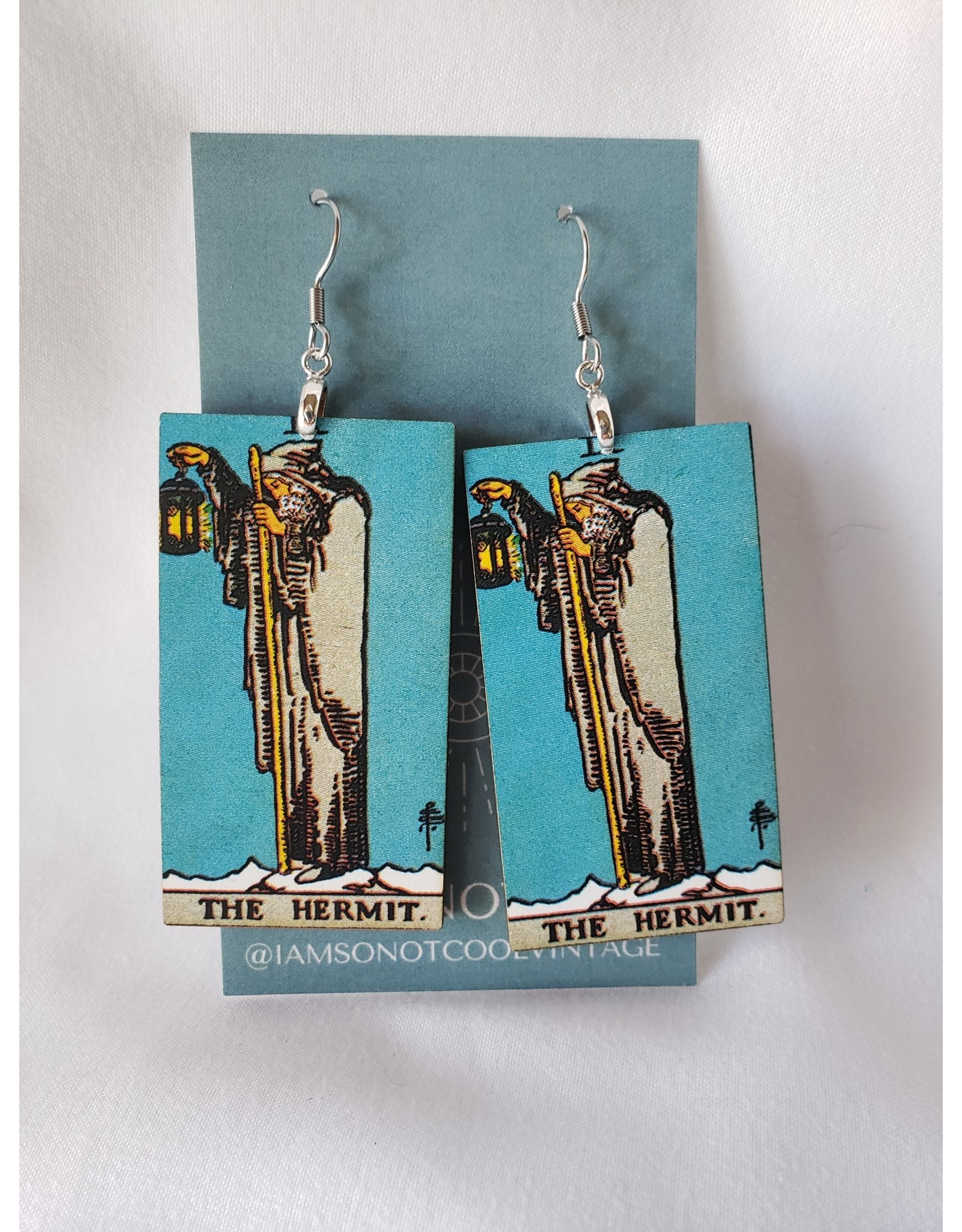 Iamsonotcool Tarot Card Earrings - The Hermit