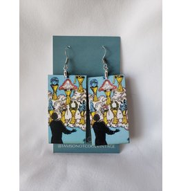 Iamsonotcool Tarot Card Earrings - The Seven of Cups