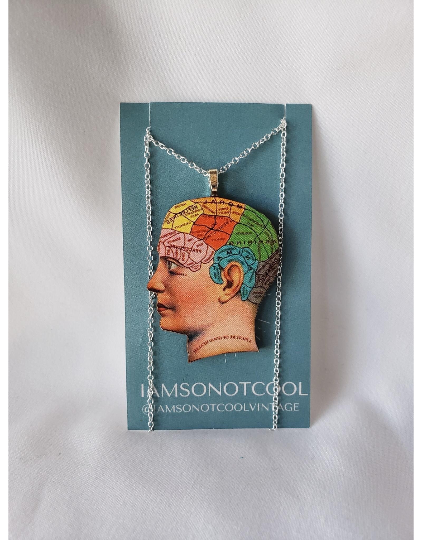 Iamsonotcool Phrenology Head Necklace