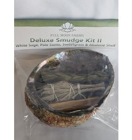 Full Moons Farms Deluxe Smudge Kit 2   White Sage, Palo Santo & Sweetgrass