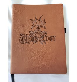 North To South Vegan Leater Journal - Herbology - Chestnut