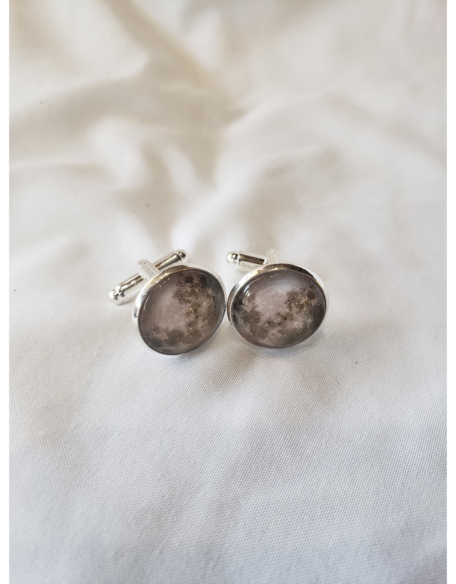 Galaxy Cuff Links - Earths Moon