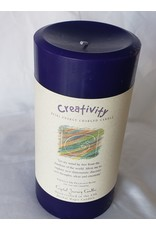 "Crystal Journey Candles Reiki Pillar Candle - Creativity - 3""x6"""
