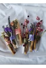 Nomads and Settlers Selenite Crystal Bars, Flowers & Palo Santo
