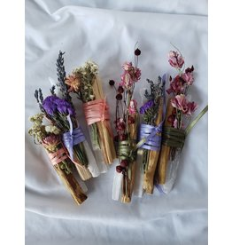 Nomads and Settlers Selenite Crystal Bars, Flowers & Palo Santo