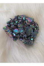 Colored Aura Quartz Cluster