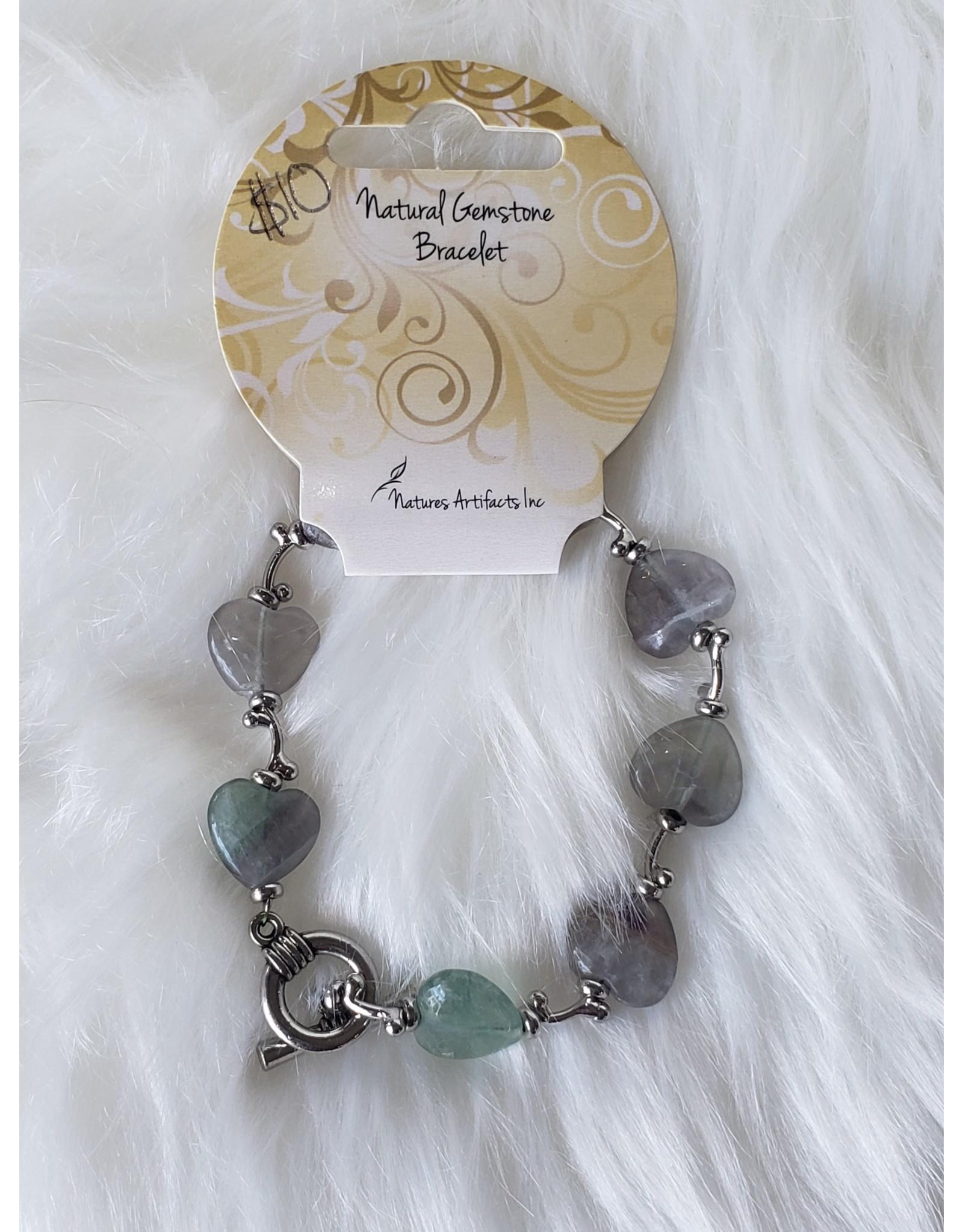 Fluorite Hearts & Kisses Bracelet