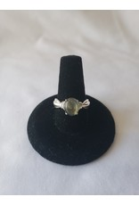 Sterling Silver - Natural Labradorite Ring - Size 6