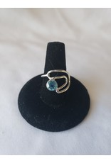 Sterling Silver - Blue Topaz Ring Size 7