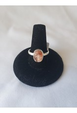 Sterling Silver - Rough Sunstone Size 8