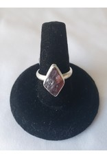 Sterling SIlver - Rough Garnet Ring  Size 6
